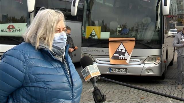 Protest branży przewozowej. Ponad 200 autokarów jedzie do Warszawy